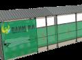 вентиляционная штора (жалюзи) для коровника, фермы КРС, МТФ 2